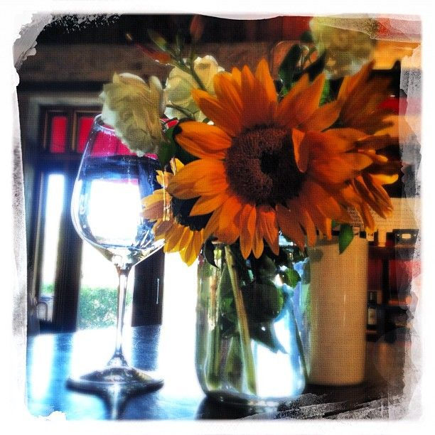 Sunflowers and Chardonnay -Instacanv.as Photo by @WineArtLife Wine Photography by Napa Artist Penelope Moore #wine #art