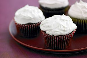 Marshmallow Frosting - my version uses 2 c butter, 2 c pwdr sugar, 1/2 t vanilla, one 16 oz jar marsh fluff.