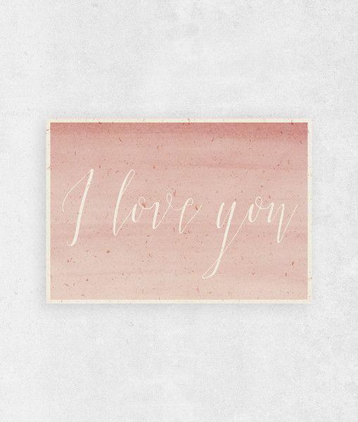 Kartka I Love You   A5 - WeJustLikePrints - Wystrój wnętrz