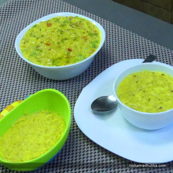 Daliya Moong Dal khichdi is a very nutritious dish you could have anytime.  Recipe in English- http://indiangoodfood.com/2258-daliya-khichdi-recipe.html (copy and paste link into browser)