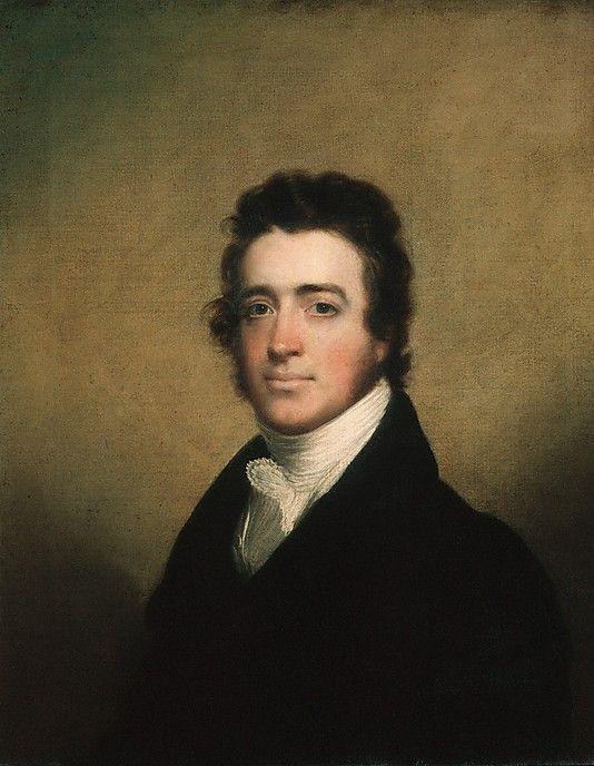 """Augustus Washington Clason"" attributed to John Wesley Jarvis (1820) at the Metropolitan Museum of Art, New York"