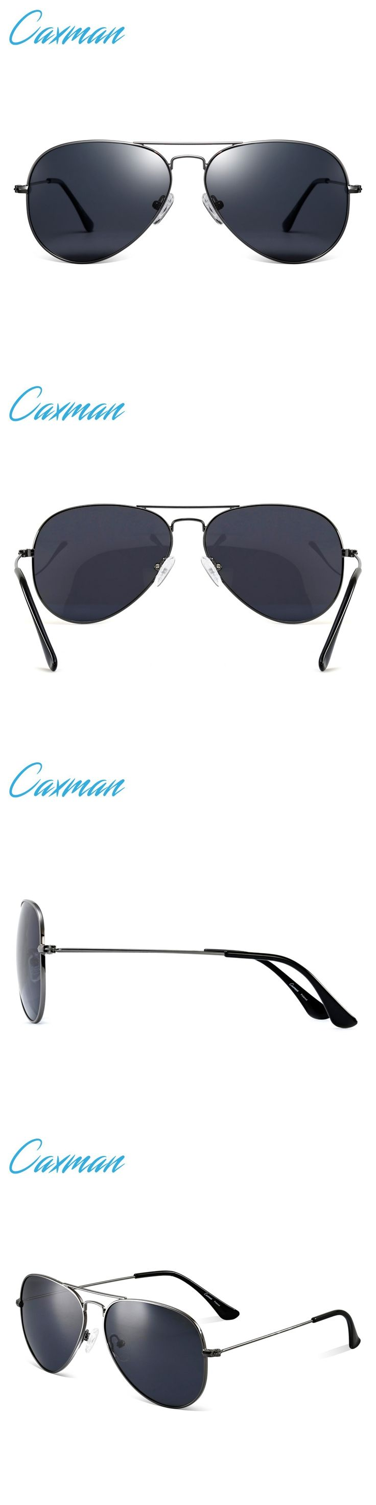CAXMAN aviator sunglasses oculos aviadores sunglasses for men 2017 vintage retro eyewear glasses