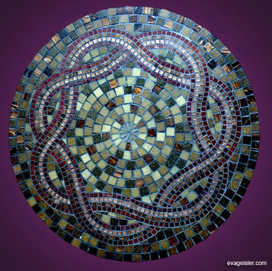 Table Top 2008 24in Glass Mosaic Italian Glass