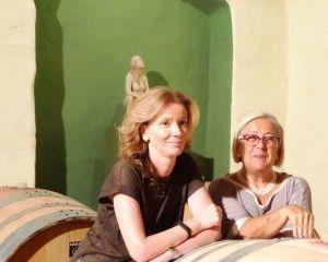Donatella Cinelli Colombini in the Casato Prime Donne winery with Sandra Savaglio the astrophysicist who won the 2014 Prima Donna award