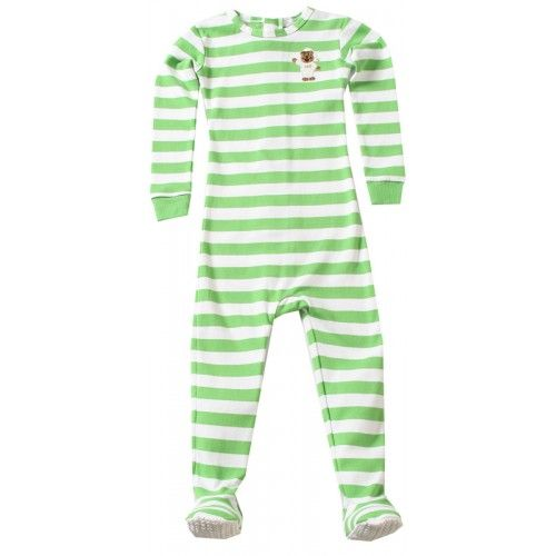 Little Keeper Sleeper Footies - Green Stripe