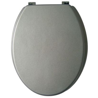 Cooke & Lewis Tonic Silver Toilet Seat, 0000005325283