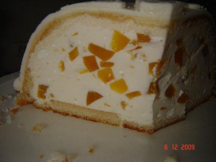 Tort cupola cu crema de piersici din Carte de bucate, Dulciuri. Specific Romania. Cum sa faci Tort cupola cu crema de piersici