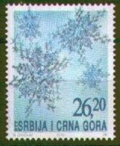 Stamp: Snowflakes (Serbia and Montenegro) (Christmas and New Year) Mi:YU…