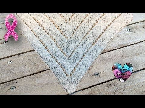 Châle tricot triangles facile - YouTube