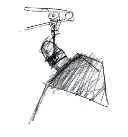 Tolomeo drawings by Michele De Lucchi and Giancarlo Fassina, 1986
