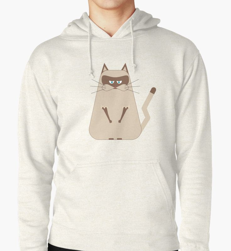 """""""Funny toon disgruntled cat"""" Hoodies by Maria-So   Redbubble"""