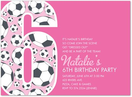 Download Now FREE Template 6th Birthday Party Invitation Wording