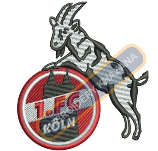 Fc Koln logo embroidery design