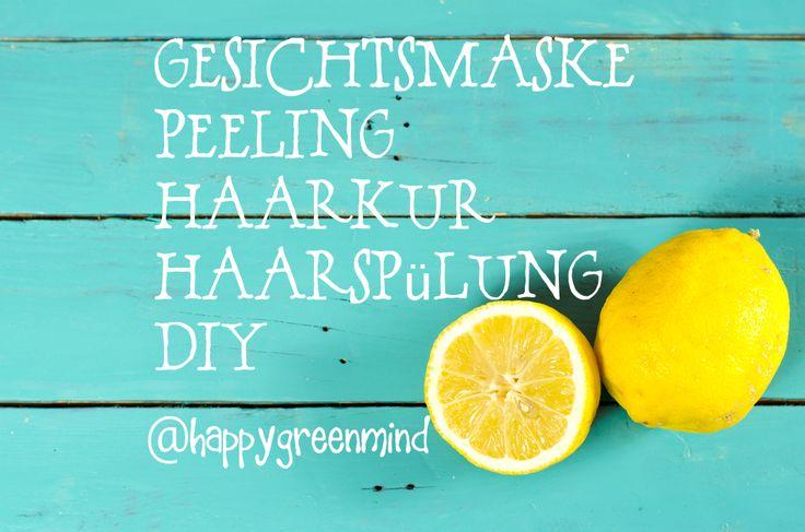 Neben Gesichtsmasken kann man auch ein Peeling, Haarkur oder ein Anti-Schuppen Shampoo mit Hilfe von Zitronen und Vitamin C selber machen. Gesichtsmasken selber machen