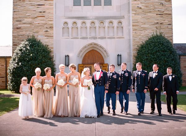 Maggie Bride Stefanie Wore Marianne By Sottero At Her Tennessee Military Wedding