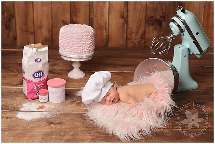 Violet Lufkin Photography: Utah Newborn Photographer Baker baby, newborn girl, pink and teal, baker hat, Sugar and Spice and everything nice