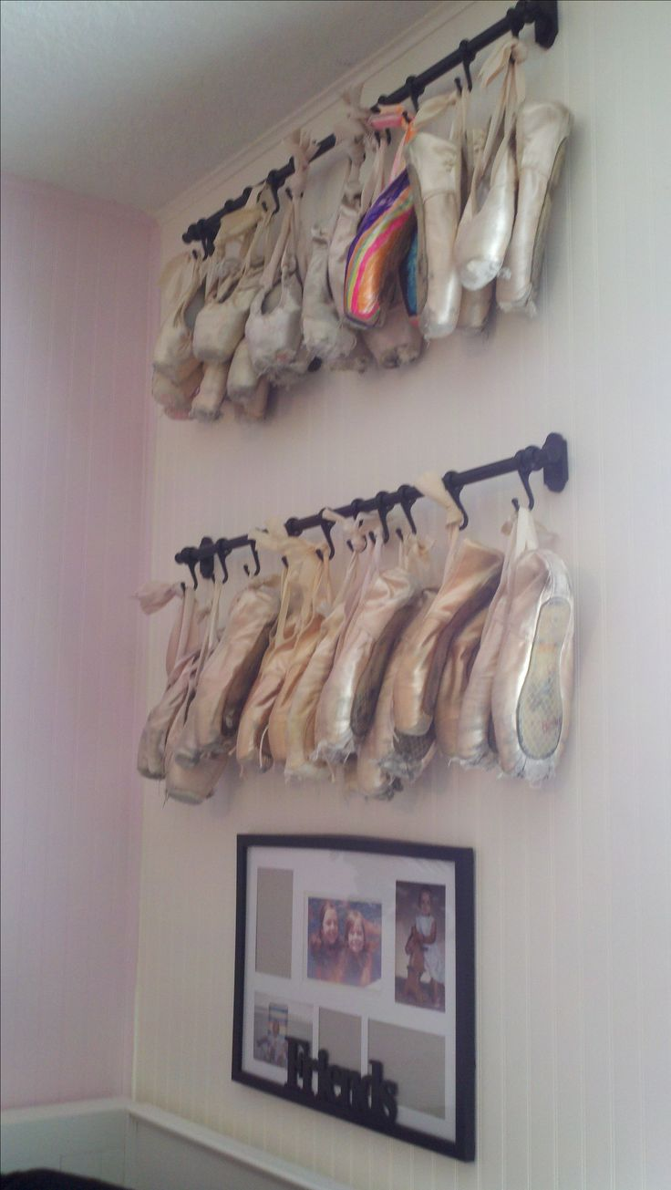 Pointe shoe display great for those retired shoes diy for Ballet shoes decoration