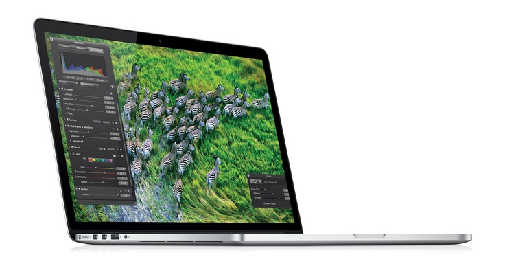 The new MacBook Pro($2,200+) comes in at 15-inches (2880 x 1800), making it the world's highest resolution notebook display.    The 2012 model comes out 25% thinner and weighs in at exactly 4.46 lbs with quad-core CPU 2.7 GHz CPU, 16GB RAM, 768GB of SSD storage HDD and over 7 hours of playing time.Models, Retina Display, Macbook Air, Macbook Pro Retina, Display Wishlist, Notebooks, Resolutions, Mountain Lion, Apples Macbook