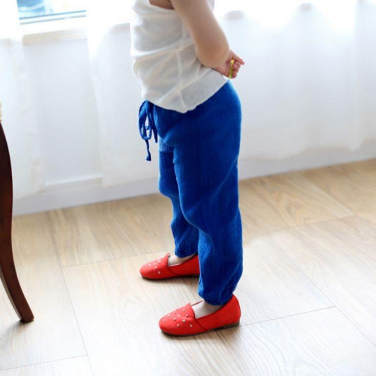 2.96€ - Aliexpress.com: Comprar Muchachas del cabrito suave ocasional Bloomers cómodos pantalones de los niños arco flojo de colores pantalones 2 7Y de pantalones de senderismo fiable proveedores en Triumph in the Sky