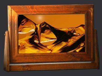 sand art large rectangle alder wood frame sunset orange background - Moving Picture Frames