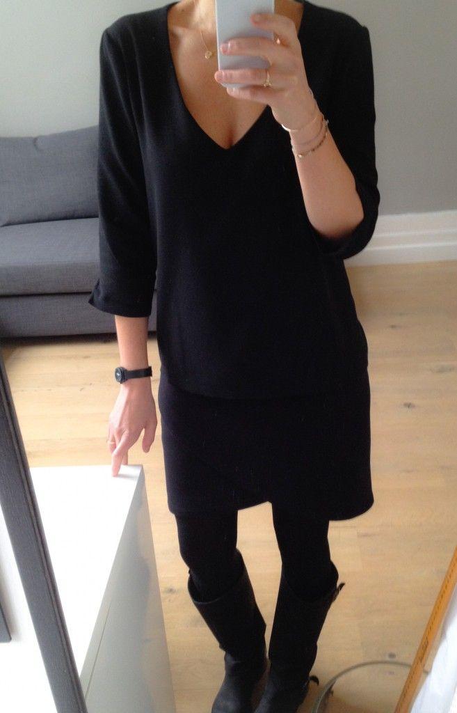 moelleux - tuto col v - version robe droite