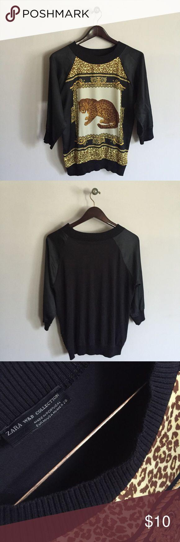 Zara women's leopard print shirt Great condition Zara Tops