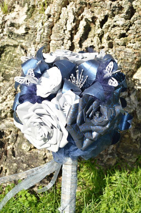 Detalles del ramo de novia Blue Glam