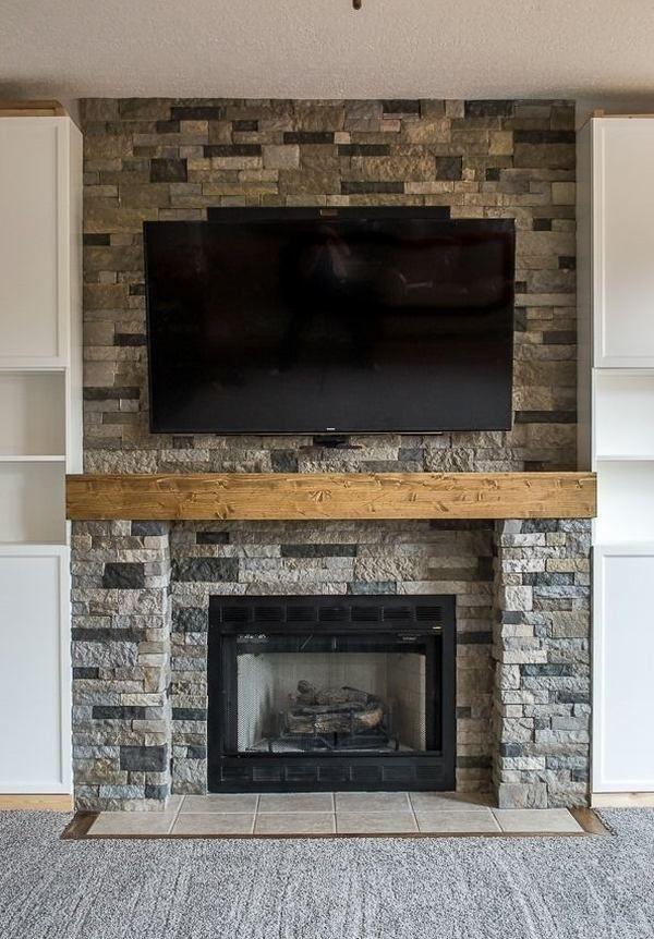Fireplace Design fireplace stone ideas : 180 best Fireplace Ideas images on Pinterest
