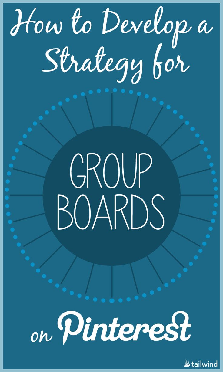 Developing a Strategy for Pinterest Group Boards. Collaborator boards can be a very powerful marketing mechanism for your blog.