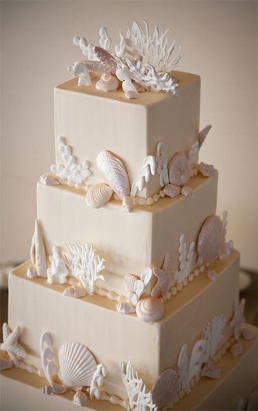 Seaside-themed Newport, RI wedding | Cake by Srumptions