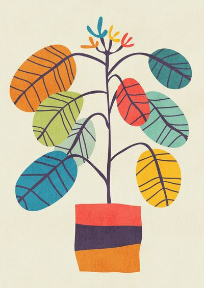 Potted plant 2 Art Print - Budi Satria Kwan