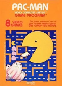 I can still hear the song. (The Atari 2600 cover of Pac-Man. Image courtesy of Wikipedia.)