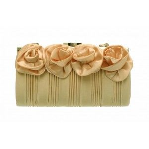 This small flower #clutch #bag is perfect for nights out on the town - See more at: http://myeveningdress.co.uk/clutch-bags/1239-champagne-four-flower-ruched-evening-bag.html#sthash.HUkVFYWv.dpuf