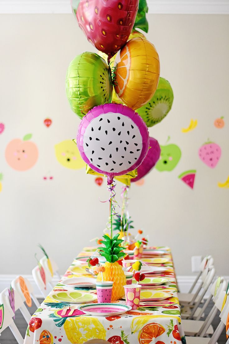 Cute and Colorful Tutti Frutti Birthday Party