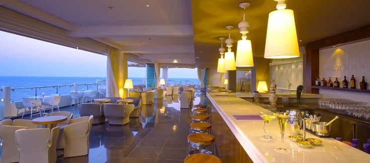 Senses Café - the rooftop lounge bar with unrivalled all around panoramic views of the area with the deep blue of the sea