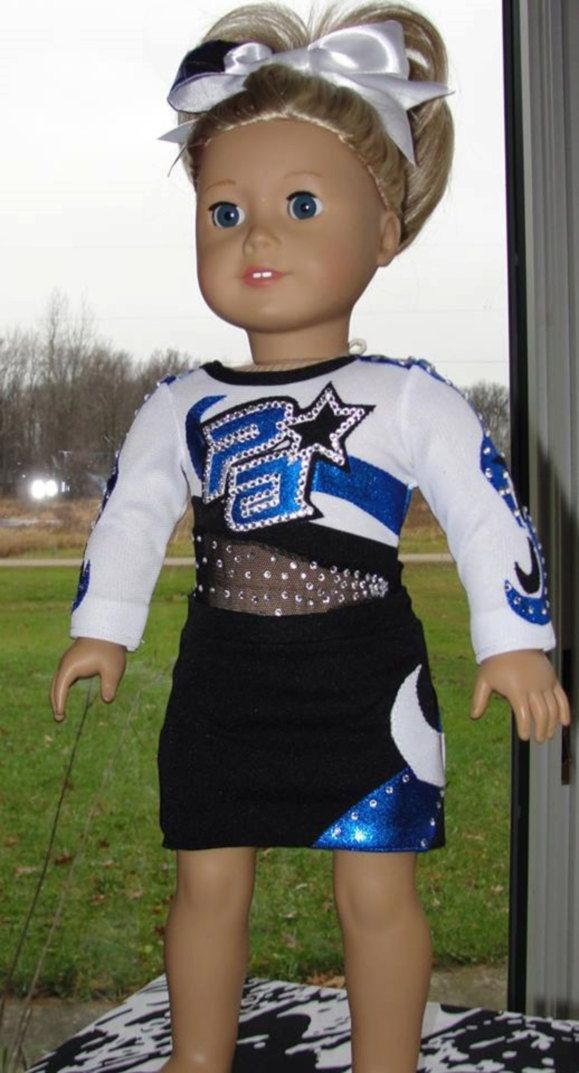 August 1, 2015 American Girl Doll Custom Cheer Uniform by ChemicalCityCouture on Etsy https://www.etsy.com/listing/167456339/august-1-2015-american-girl-doll-custom