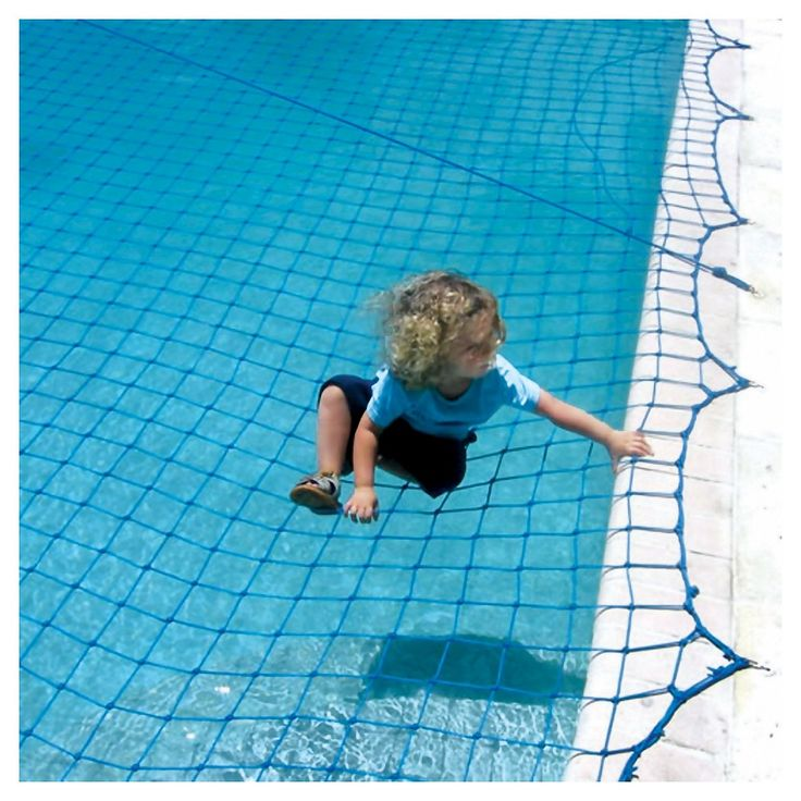 WaterWarden Pool Safety Net for In Ground Pool up to 30' x 50', Blue