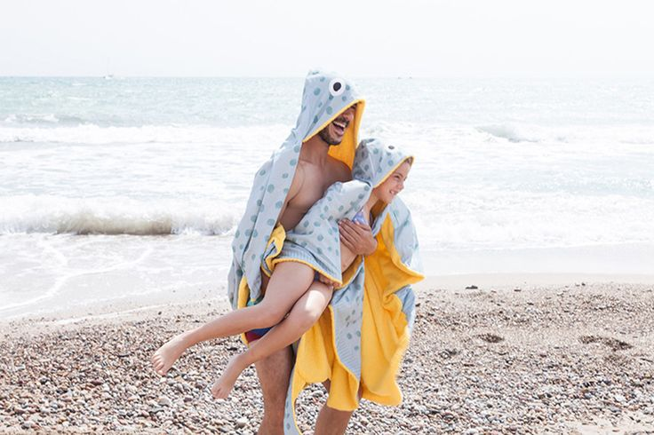 Don Fisher Stingray Hooded Kids Beach Towel @moonpicnic