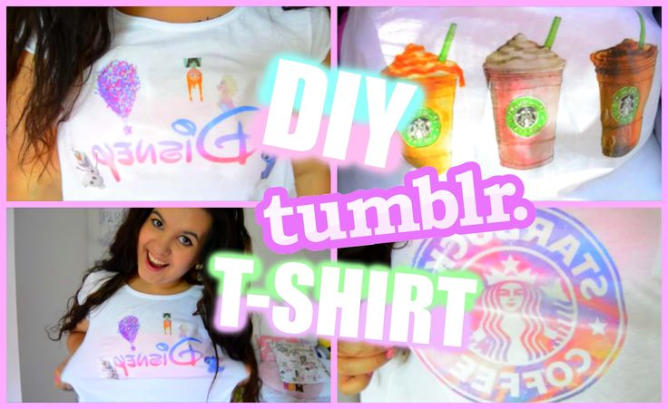 ♡ DIY TUMBLR T-SHIRT  / DIY TRIČKA ♡