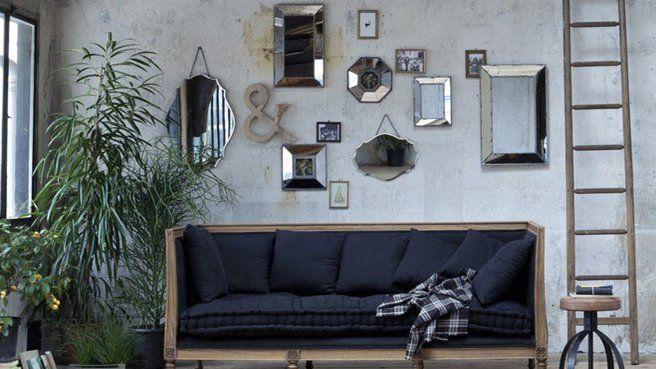 Comment créer un jeu de miroir sur les murs ? // http://www.deco.fr/diaporama/photo-jeux-de-miroirs-sur-les-murs-49075/miroirs-deco-692895/