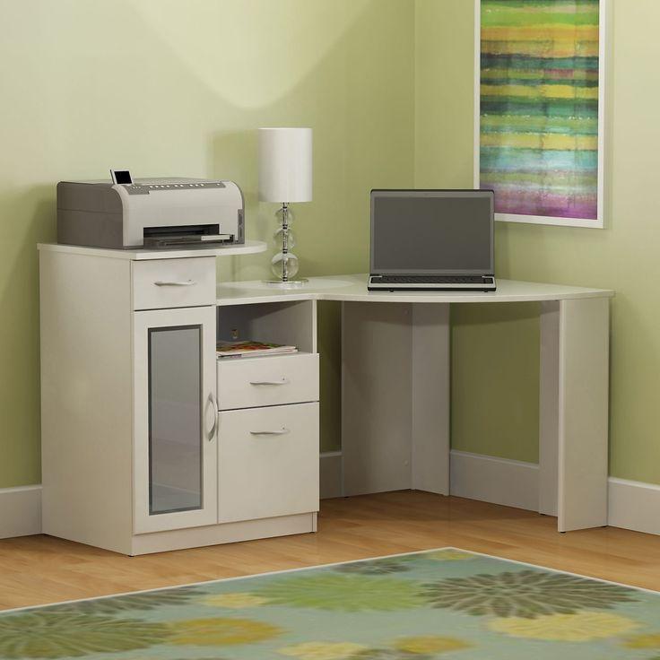 Bush Vantage White Corner Computer Desk - HM66115A-03