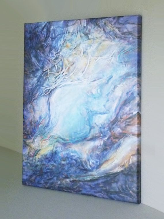 Canvas Giclée Print Turquoise Painting Abstract by AnnaKisArt