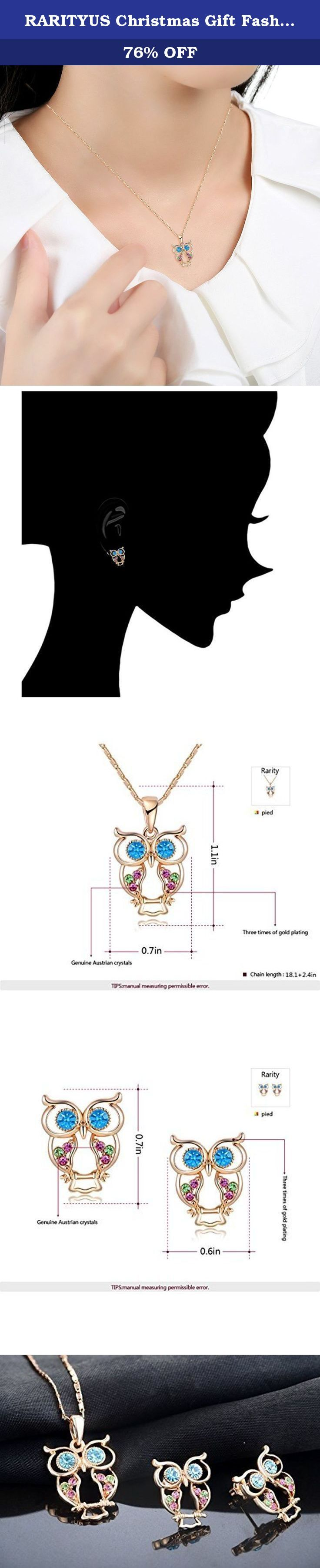 RARITYUS Christmas Gift Fashion Lovely Genuine Austrian Crystals Rose Gold Owl Earrings Pendant Necklace sets Jewelry. Jewelry Information: Brand Name: JEWELRY RARITYUS Attached Product:Silver Jewelry Polishing Cloth. Packaging: Exclusive Customized Deluxe Velvet Gift Box. Perfect Quality and Service: JEWELRY RARITYUS attaches importance to quality and service,in order to keep at high level,environmental friendly and healthy,nickel free and anti-allergic. JEWELRY RARITYUS aims to give you...
