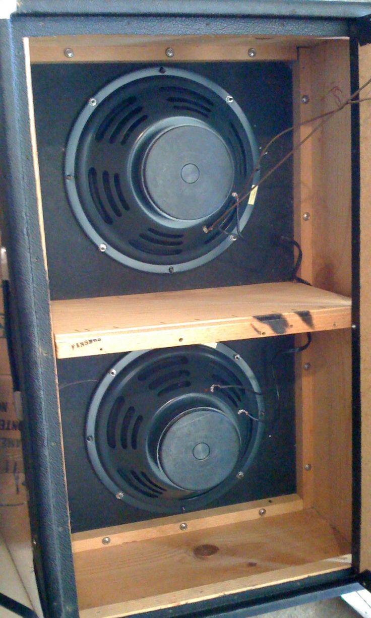 here 39 s the inside of an old 2x12 fender bandmaster cabinet that i have still the original utah. Black Bedroom Furniture Sets. Home Design Ideas