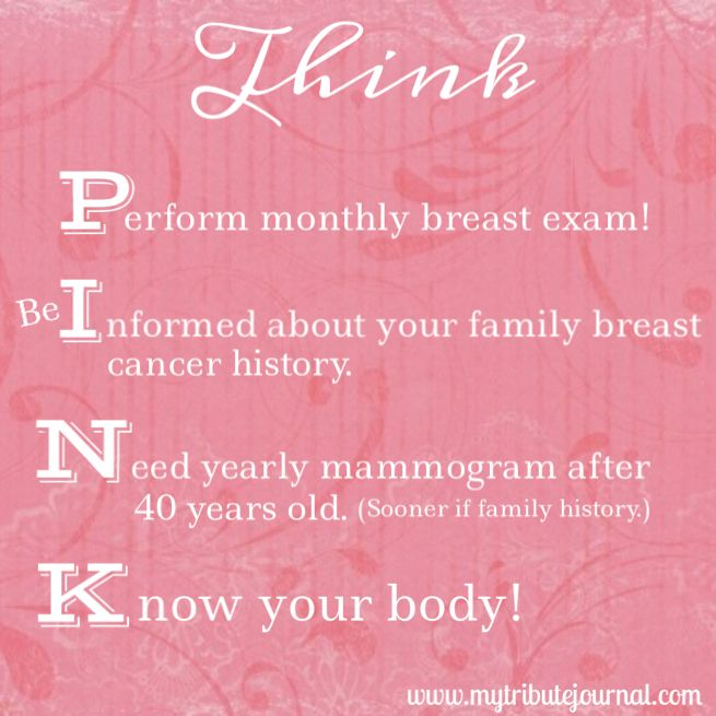 Think Pink! A handy acronym that teaches the basics for ...