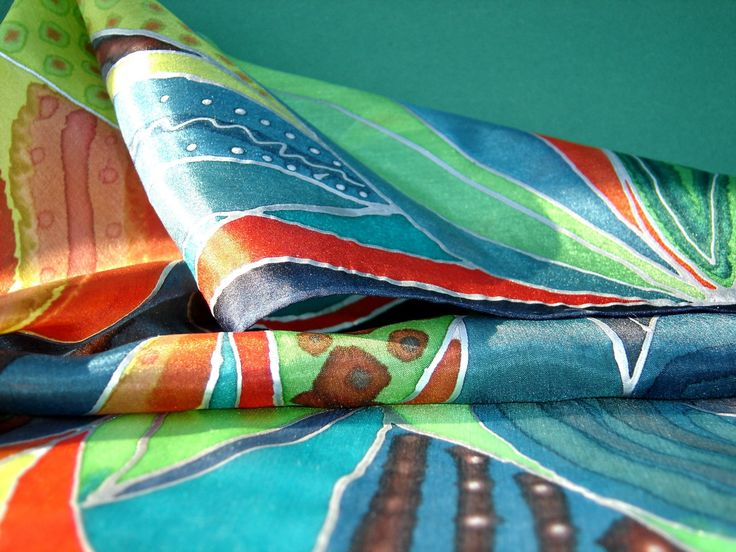 Selyemrét-Down to the Ground-hand painted silk shawl