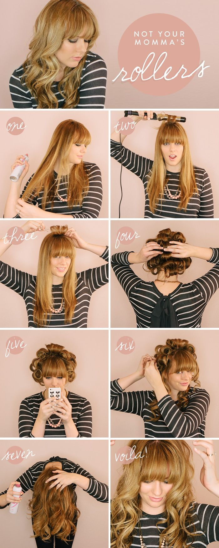 Not Your Momma's Rollers, perfect curl tutorial by @Jenna Day