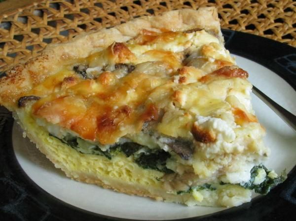 Spinach Mushroom Cheesy Quiche | BPM Collections - Food/Entree | Pint ...