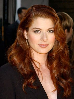 loving the red hair!!  Debra Messing.