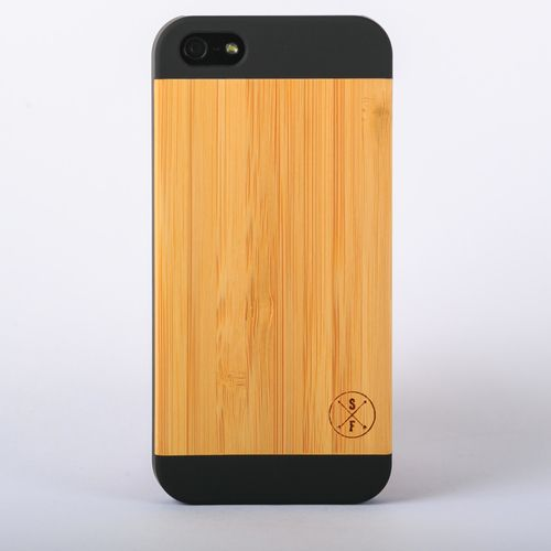 Bamboo Cannington Case - Black iPhone 5/5S - Composed of a solid piece of bamboo with a polycarbonate shell, this unique case offers protection from harmful elements and scratches. Plus, 20% of the sale goes to charity and 1 tree is planted per product sold!